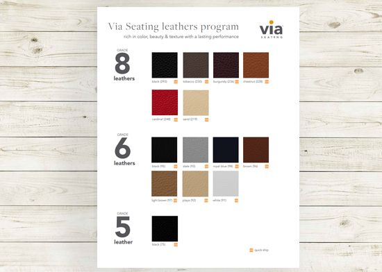 Picture of Via Leathers textile card (Grade 5, 6 & 8, leathers).