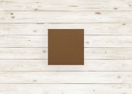 Picture of Light brown leather #97 square, grade 6.