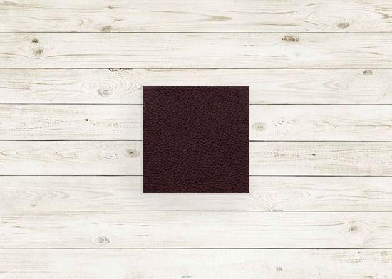 Picture of Burgundy leather #236 square, grade 8.