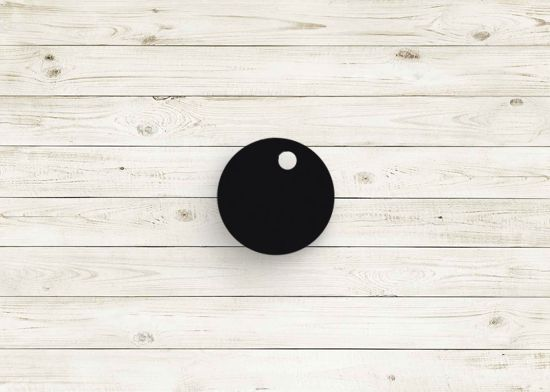 Picture of Black poly chip. #01